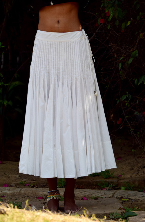 Gala White 80 Kali Cotton Skirt