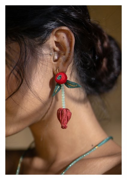 Longon Textile Earrings