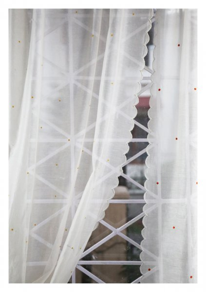 Purva White Sheer Curtain
