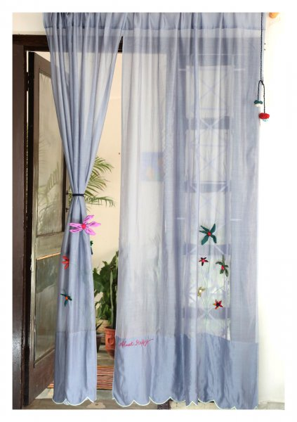 Jyestha Grey Sheer Curtain
