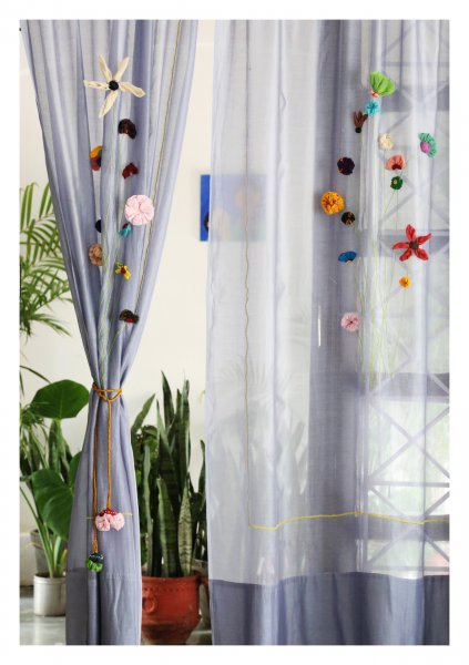 Ardra Grey Sheer Curtain