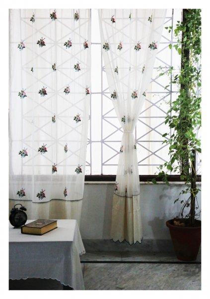 Mrigasha White Sheer Curtain