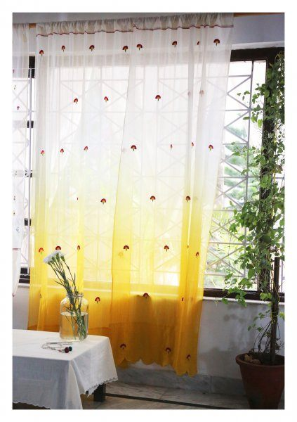 Surya Yellow Sheer Curtain