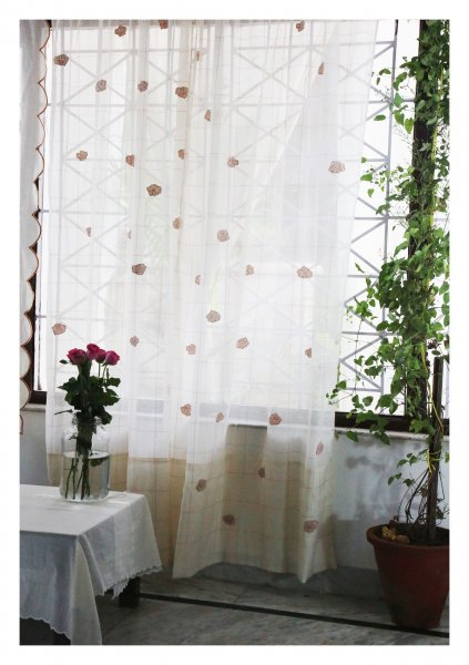 Ashvini White Sheer Curtain