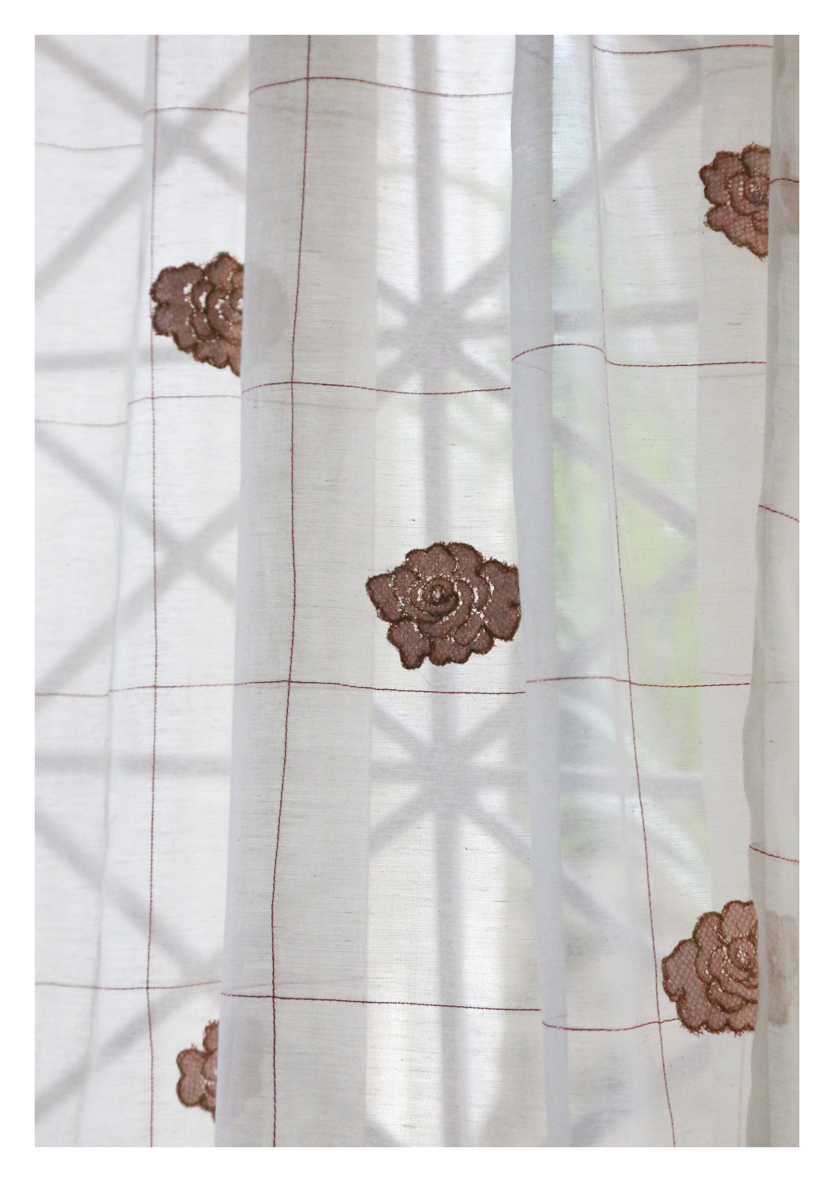 Ashvini Off-White Sheer Curtain