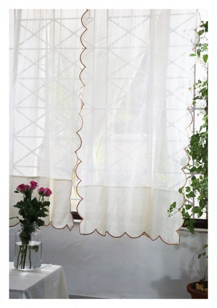 Anuradha White Sheer Curtain