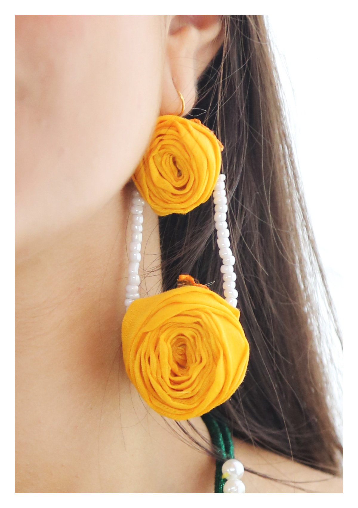 Bes Yellow Rose Earrings