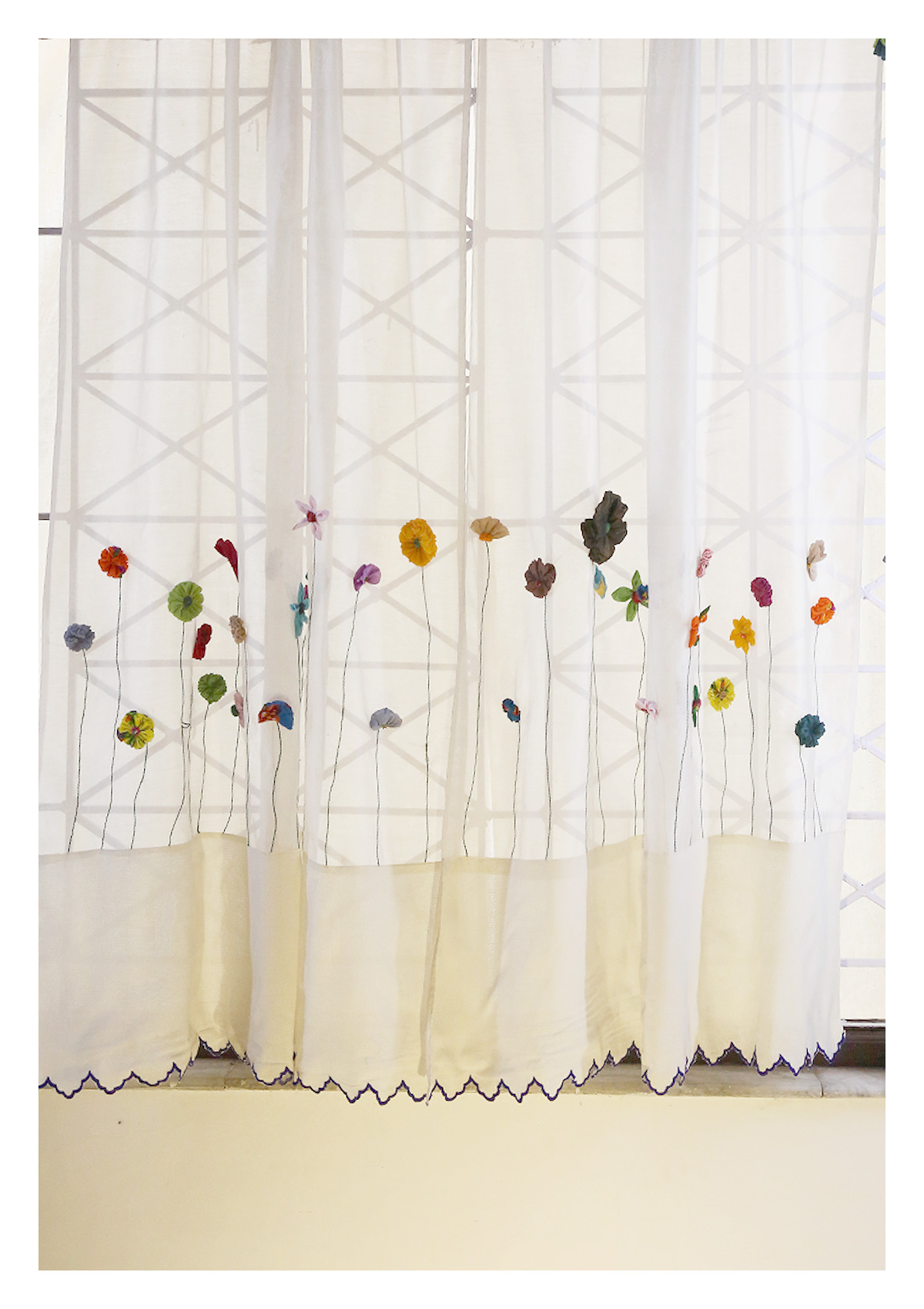 Bharani Off-White Sheer Curtain