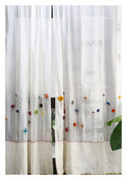 Mula White Sheer Curtain
