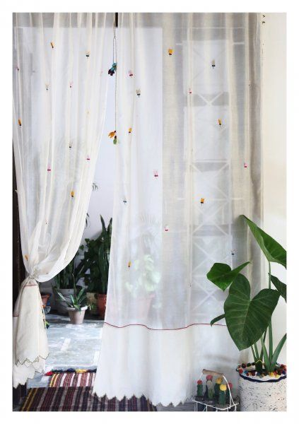 Hasta Off-White Sheer Curtain
