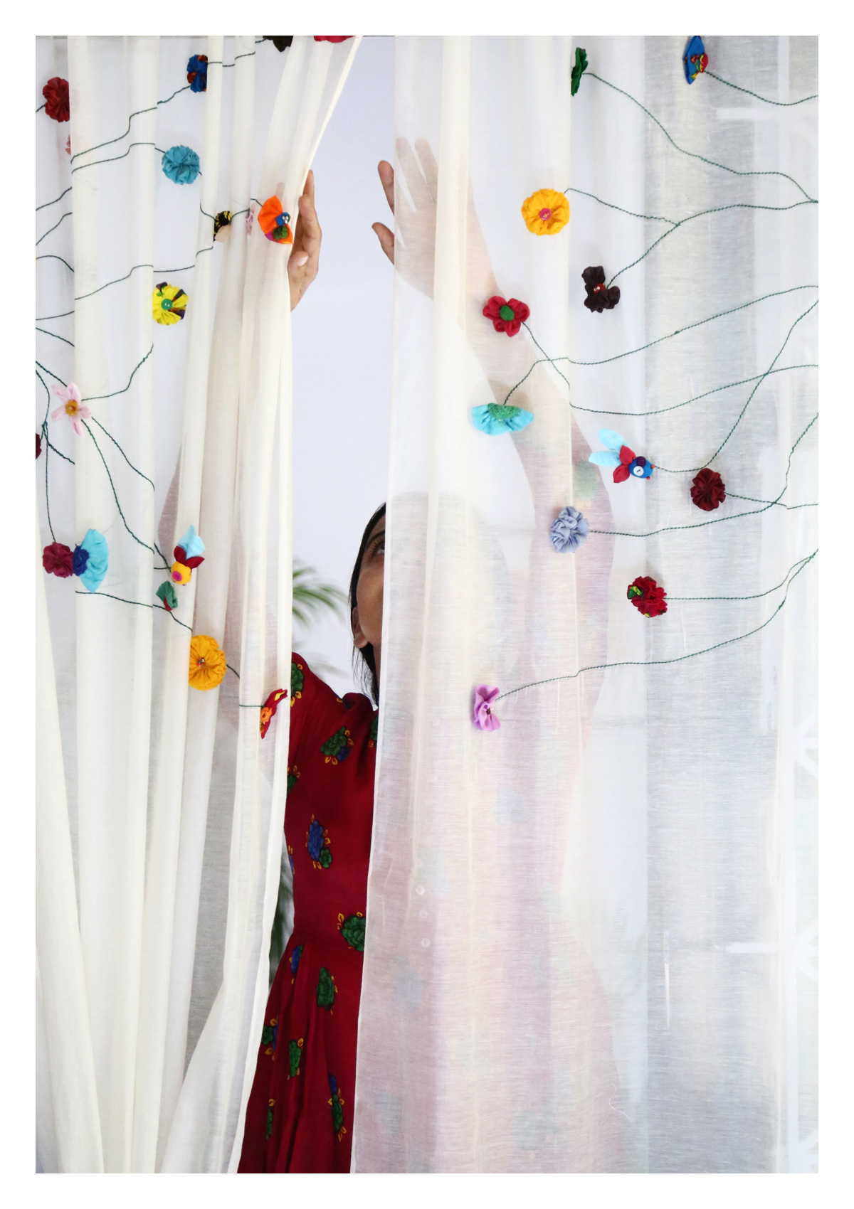 Sravana Off-White Sheer Curtain