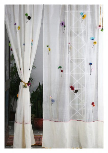 Uttara Off-White Sheer Curtain
