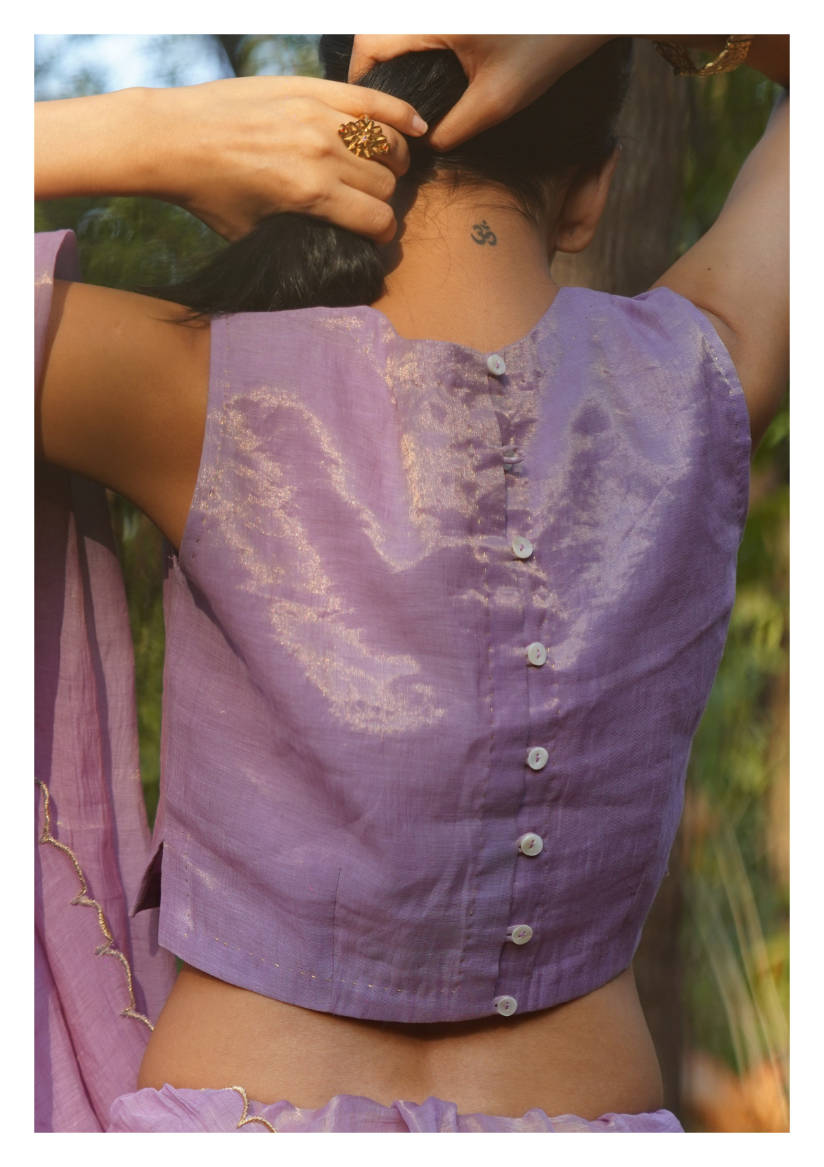 Calendula Tissue Chanderi Blouse