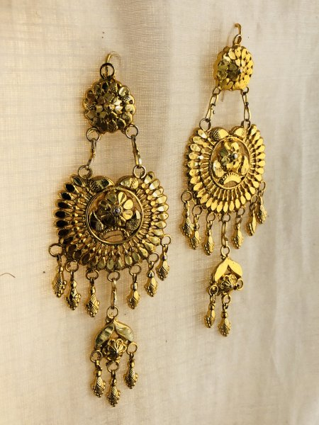 Jhumra Gold Plated Silver Earrings