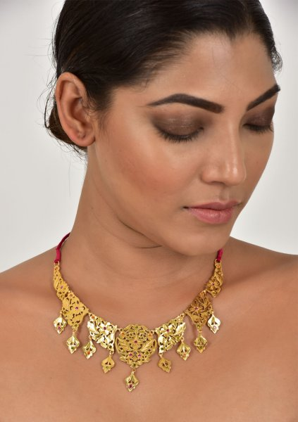 Seeta Handmade Gold tone Silver Necklace