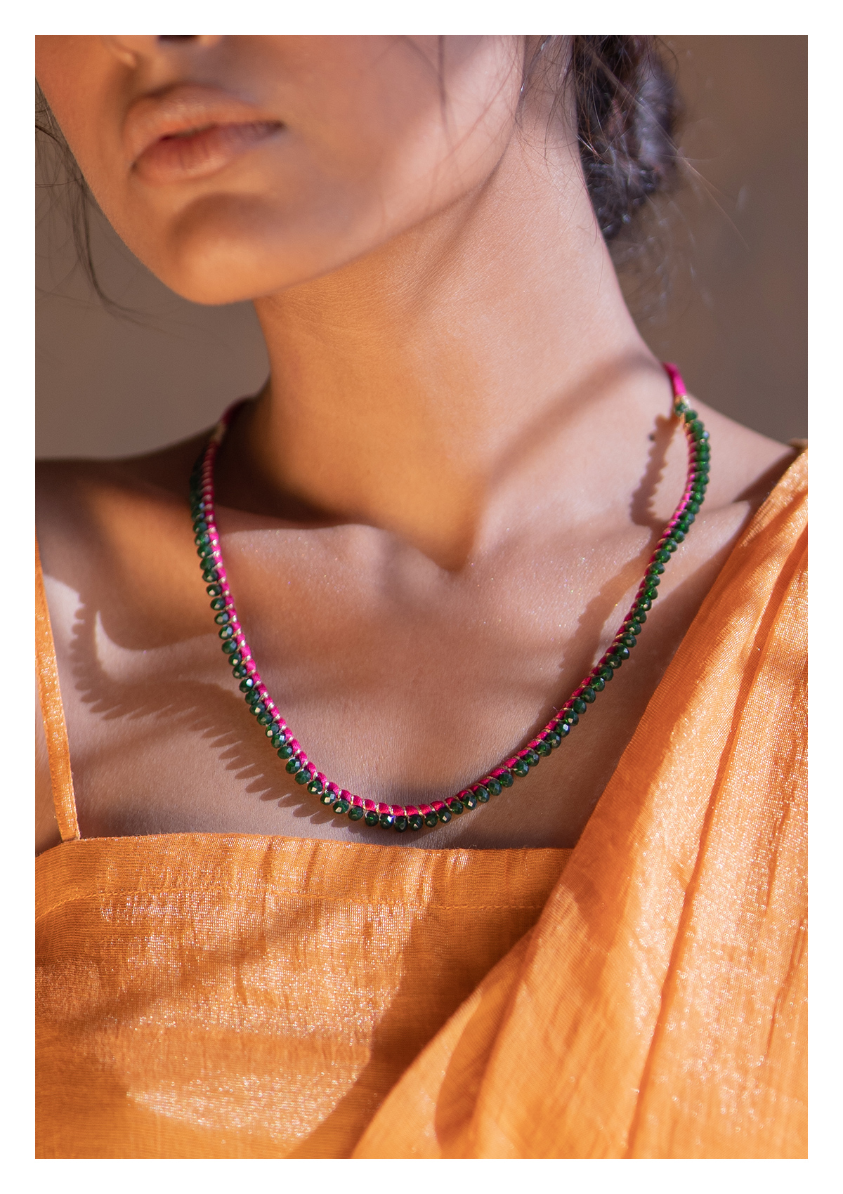 Toomba Bead Textile Necklace