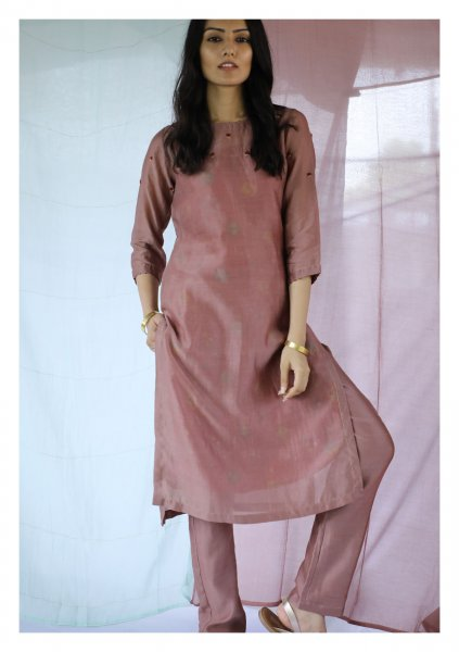 Marcona Brown Kurta Pants Set