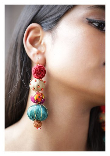 Nakhra Textile Earrings
