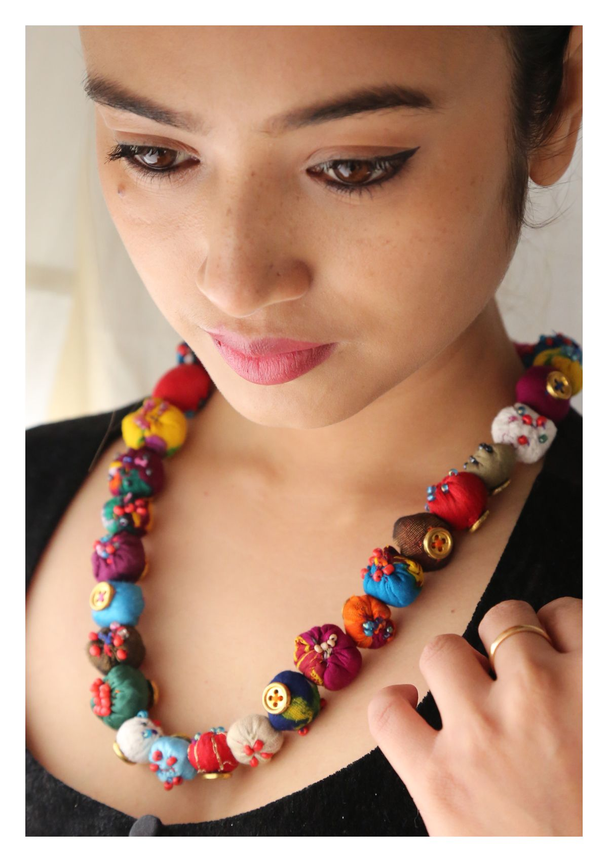 Desi Ladoo Textile Necklace
