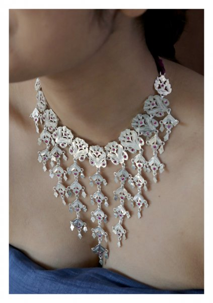 Shabnam Handmade Silver Necklace