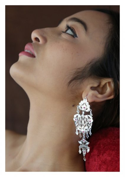 Saira Handmade Silver Earrings
