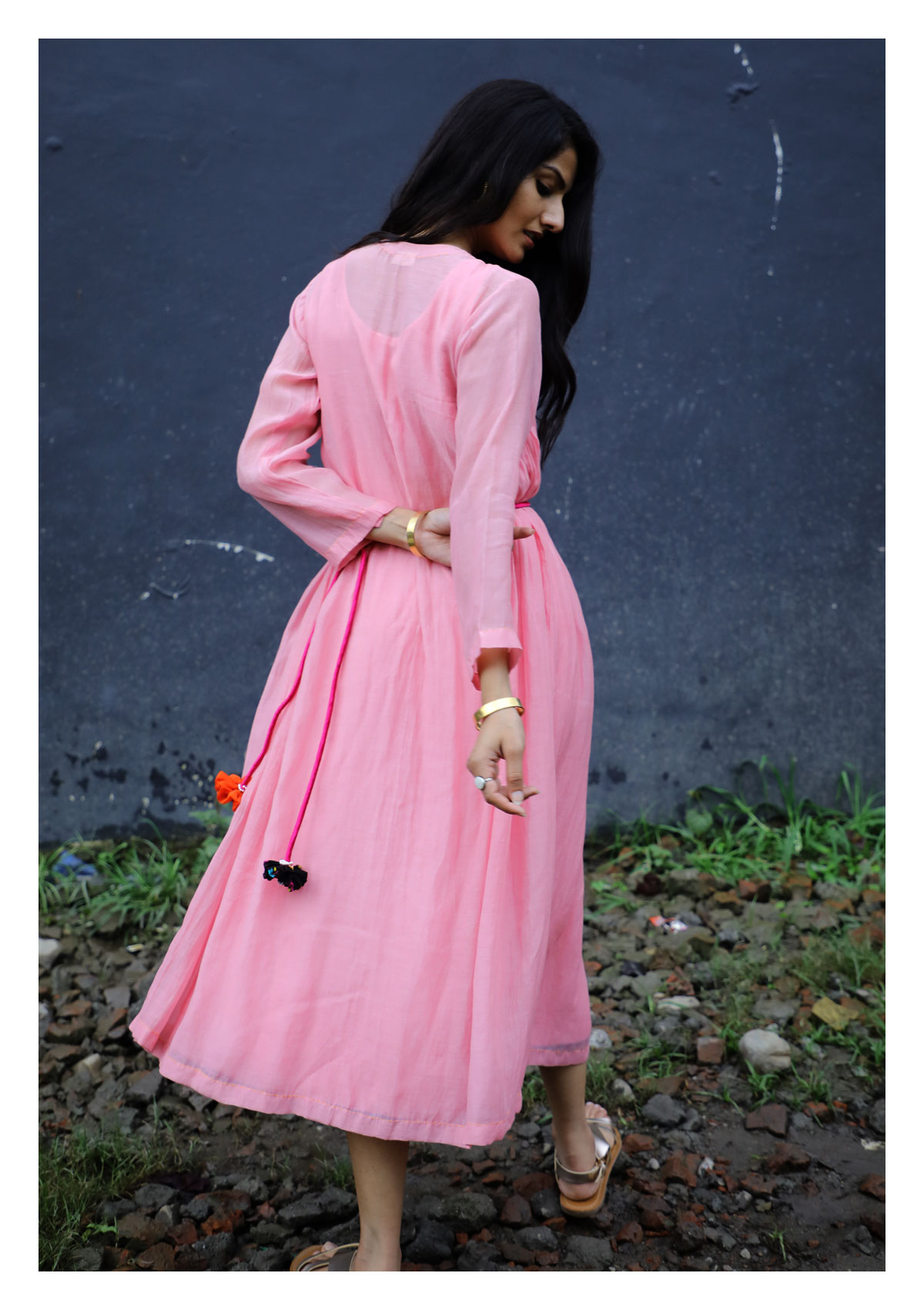 Scarlett Pink Chanderi Dress