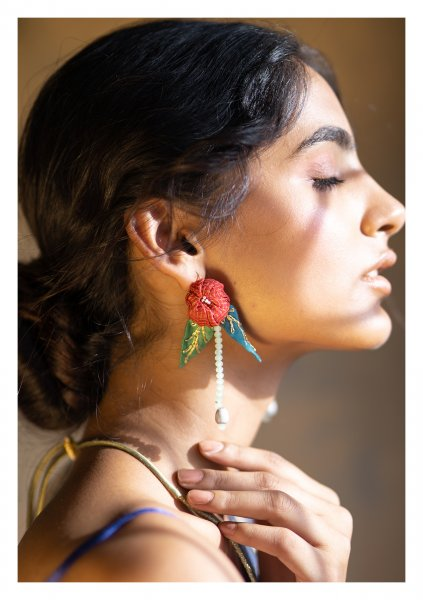 Jujube Textile Earrings