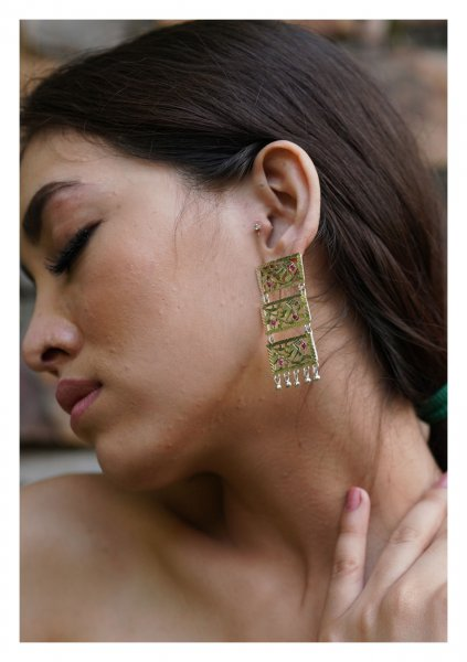 Aaliya Handmade Silver Earrings