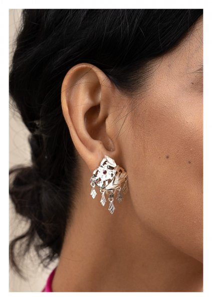 Aasira Silver Earrings