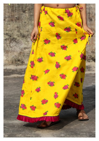 Aneri Yellow Cotton Petticoat