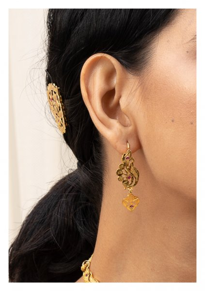 Batakhi Gold Tone Silver Earrings