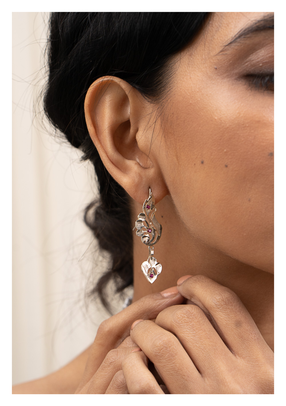 Batakhi Silver Earrings