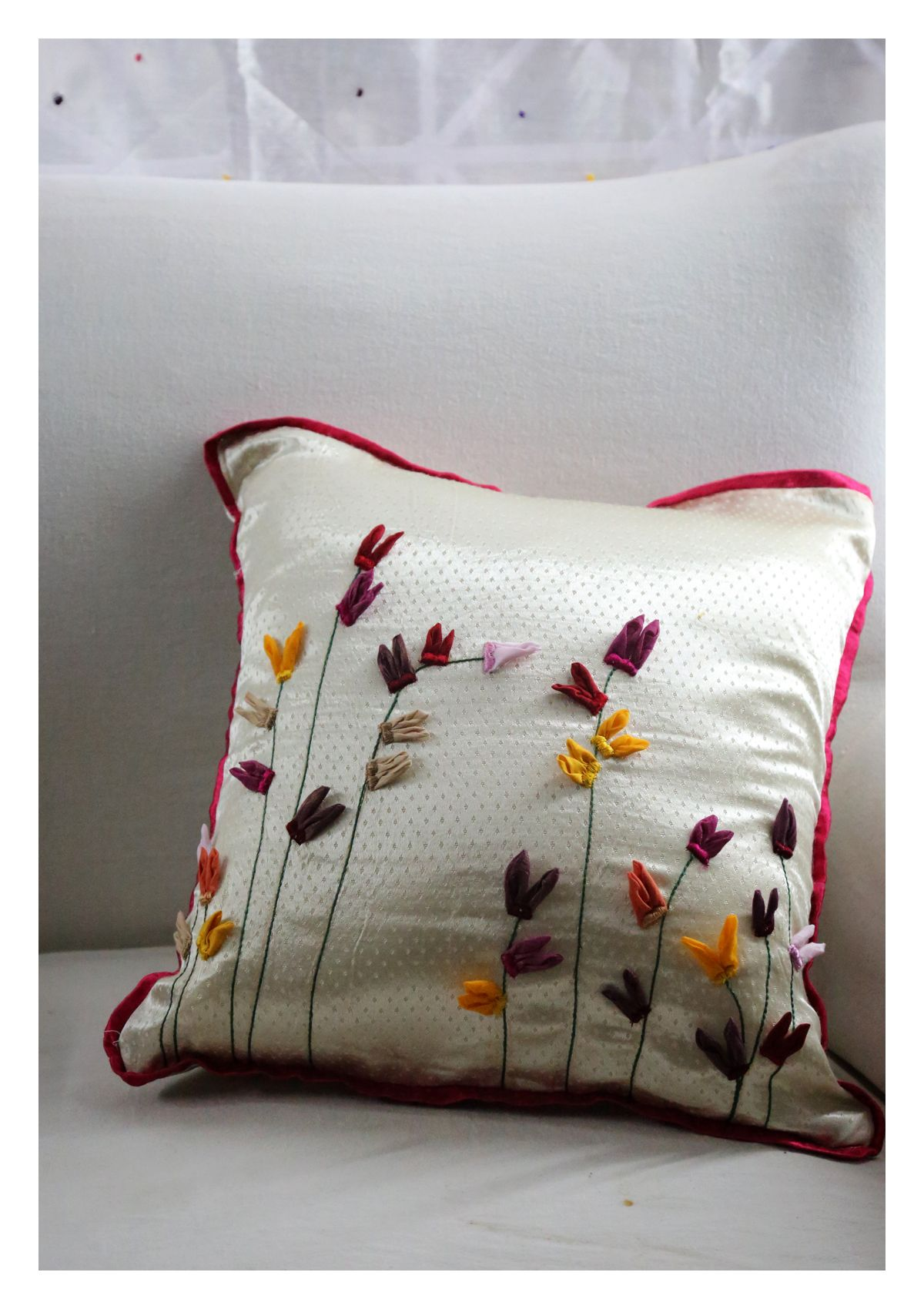 Kettai Mashru Silk Cushion Cover