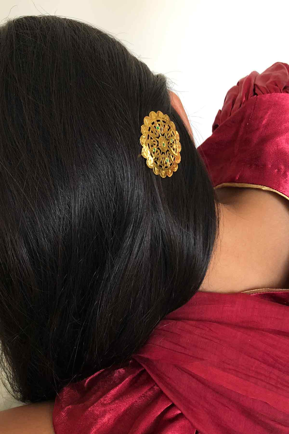 Chandara Gold Tone Silver Hairpin