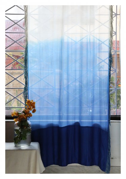 Tarini Blue Sheer Curtain