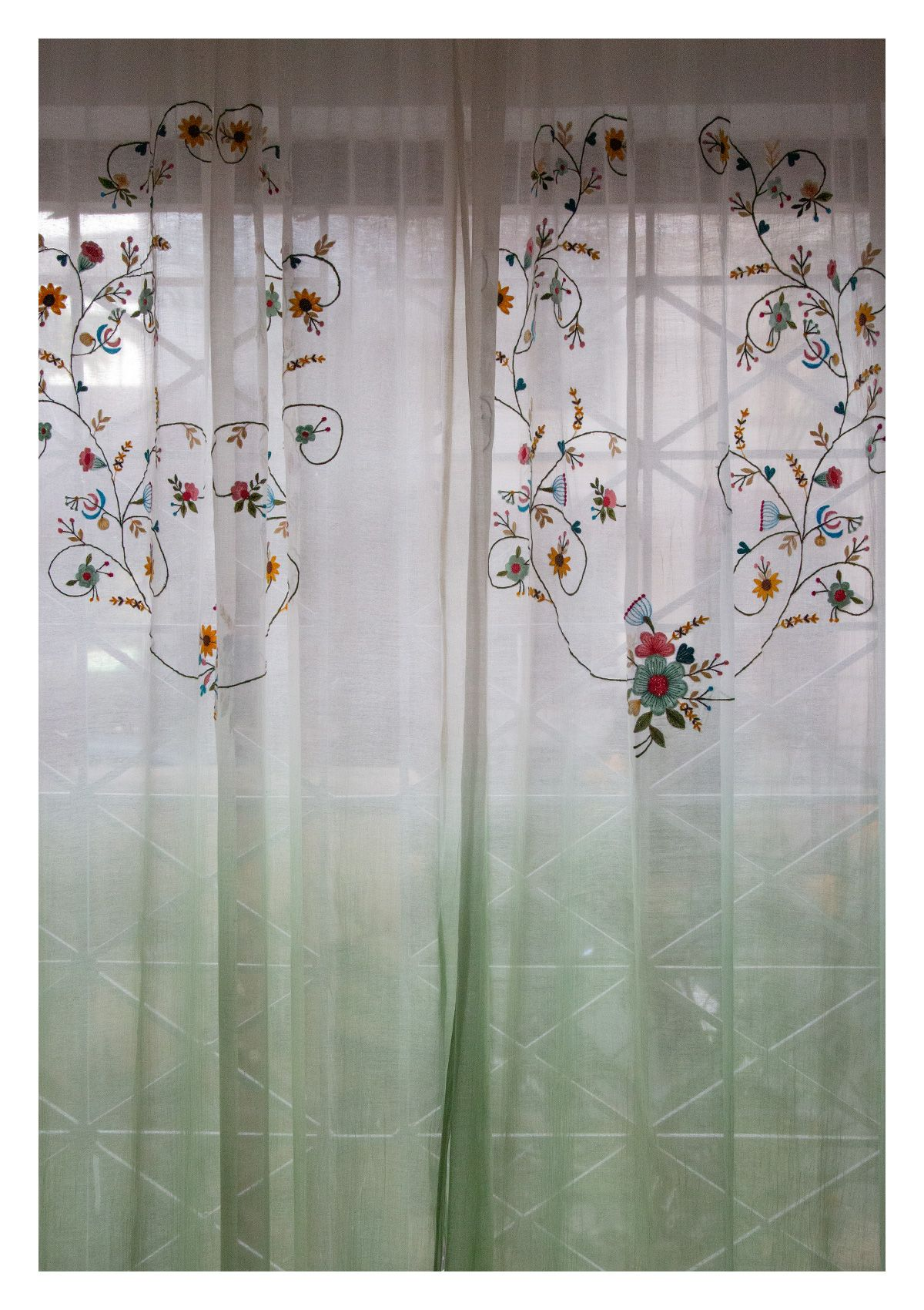 Sharanya Green Sheer Curtain