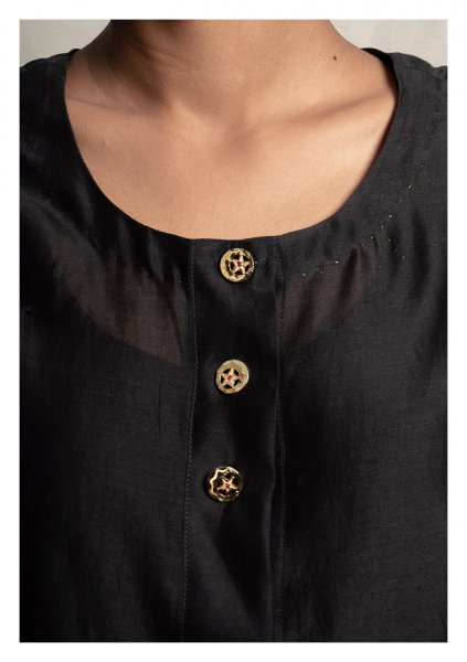Deemah Gold Tone Silver Buttons