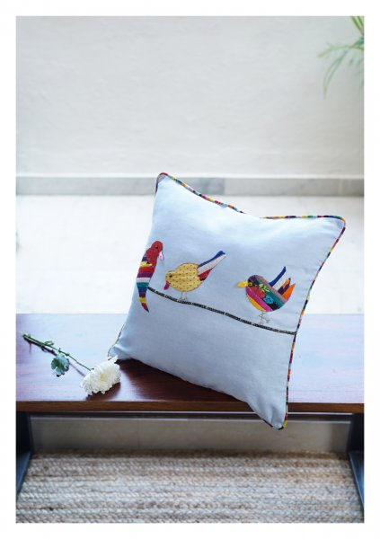 Birds of Paradise Canvas Cushion Cover
