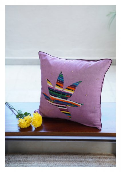 Grape Ape Lavender Linen Cushion Cover