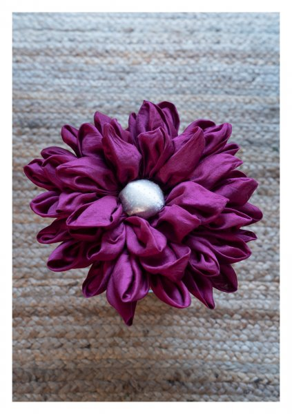 Asterales Purple Mogra Cushion
