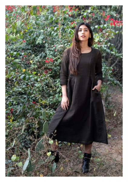 Sparkle Dust Tissue Chanderi Dress