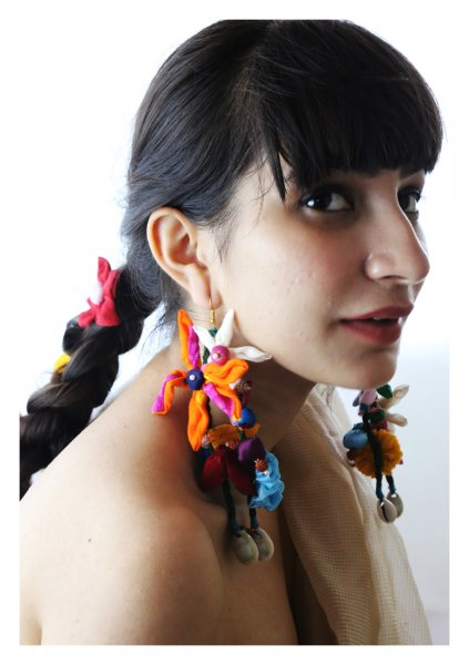Pabian Textile Earrings