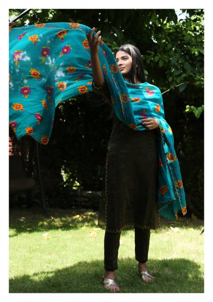 Kirati Cotton Chintz Dupatta