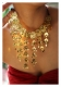 Shabnam Green Handmade Gold tone Silver Necklace