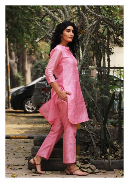 Rose Pink Kurta Pajama Set
