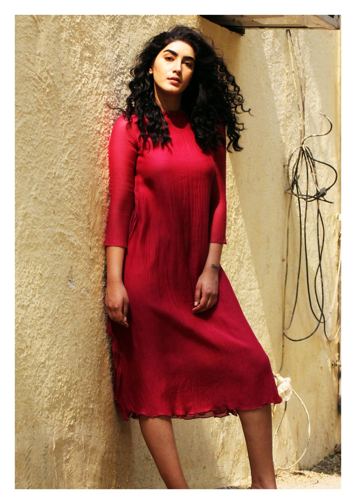 Ruba Pink Chanderi Cotton Dress
