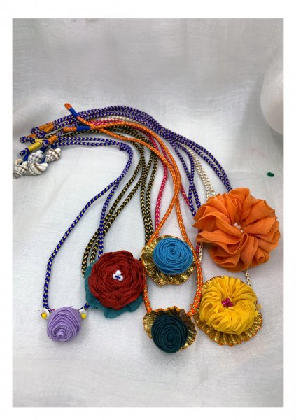 Joy Handmade Textile Rakhi- Set of 6