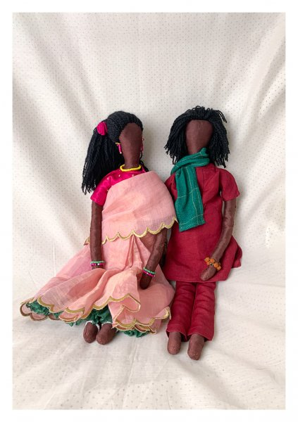 Champak & Sundari Dolls - Set of 2