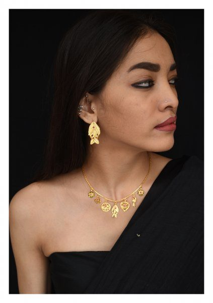 Baji Handmade Goldtone Silver Necklace