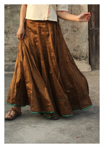 Zararu Tissue Bronze Skirt